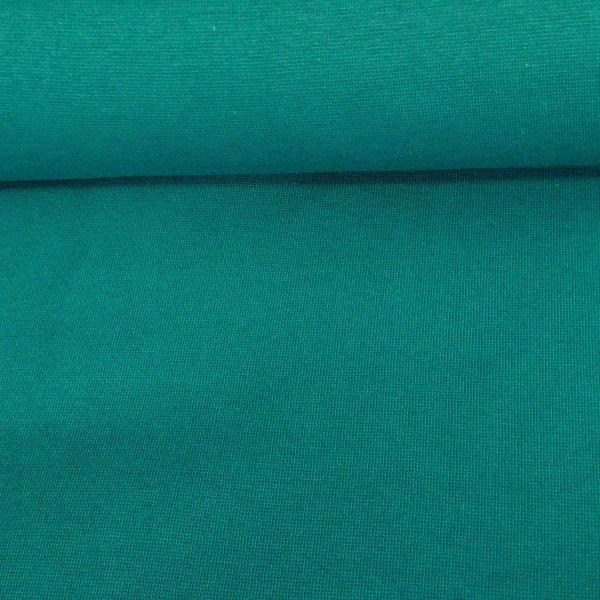 Látka elastický náplet tunel žebrovaný tyrkysová zelená petrolejová teal na tepláky sukně rukávy