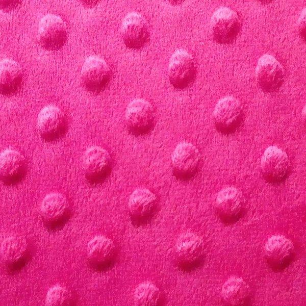 Látka minky metráž šerpa sytě růžová fuchsiová vaflová mimi dětská na zavinovačky hnízda
