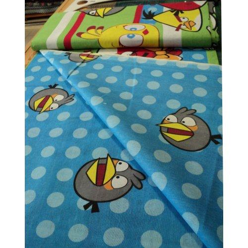 Dětská bavlna na povlečení angry birds barevní ptáci