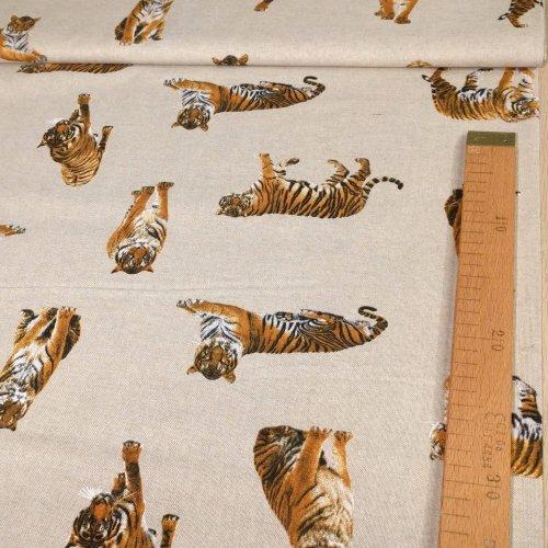 Režná látka od zahraničního výrobce tygrové režná béžová na dekorace povleky