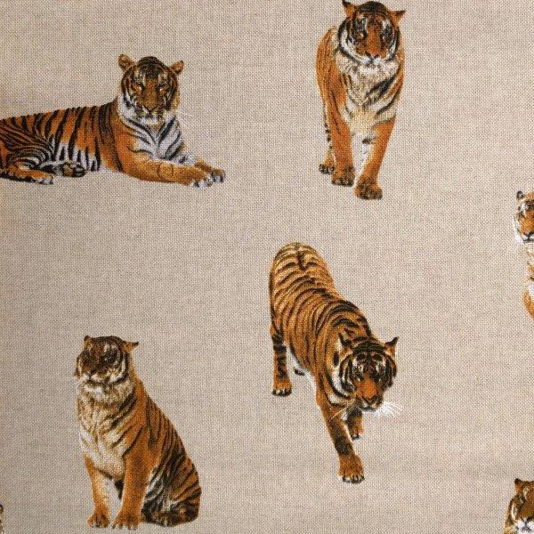 Dekorační látka dovoz tygři sibiřský ussurijský na polštáře závěsy