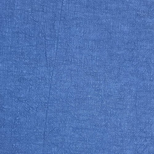 Látka dovoz len ramie královsky modrá jednobarevná na kalhoty trika přírodní