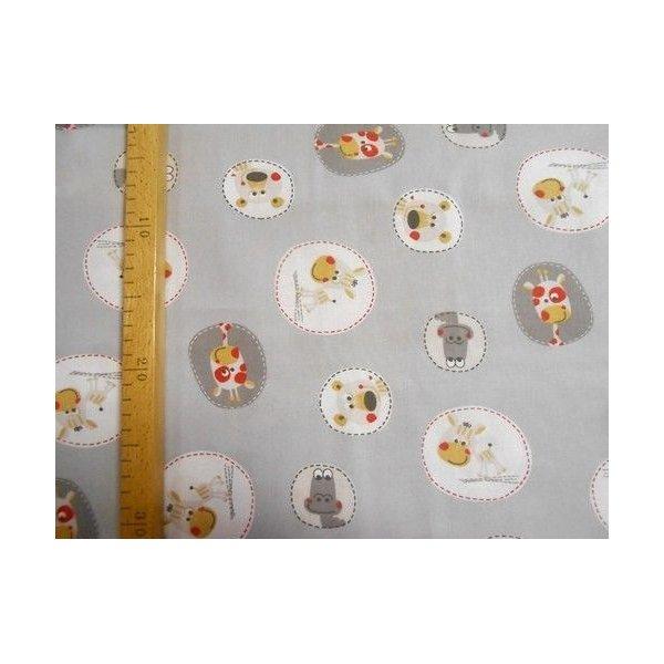 Dětská bavlna metráž šedá žirafy zebry