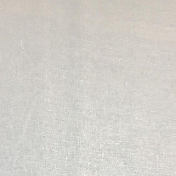 Zahraniční lněná metráž jednobarevná bílá sněhově čistá na šití oblečení kalhoty trika